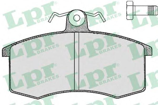 Колодка торм. LADA (2108, 2109, 21099) передн. (пр-во LPR)                                            арт. 05P288