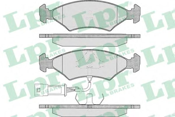 05P327  LPR - Гальмівні колодки до дисків (F, S, з датчиком)  арт. 05P327