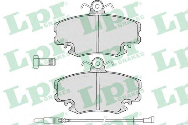 Колодка торм. RENAULT CLIO,R-19 передн. (пр-во LPR)                                                   арт. 05P349