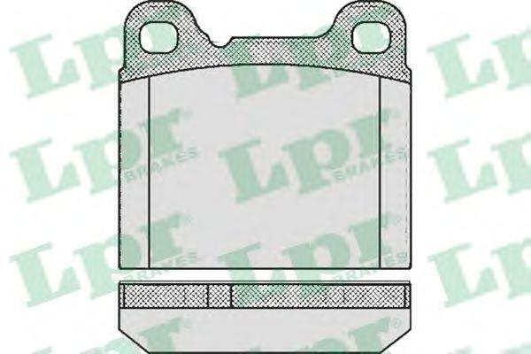 SF2443 Тормозные колодки LPR 05P362