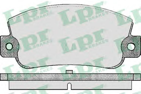 SF2322 Тормозные колодки LPR 05P410