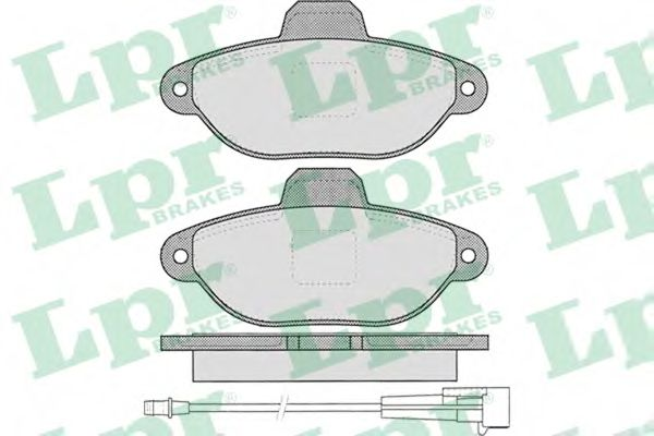 Комплект тормозных колодок, дисковый тормоз  арт. 05P462