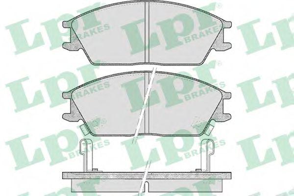 Комплект тормозных колодок, дисковый тормоз  арт. 05P542