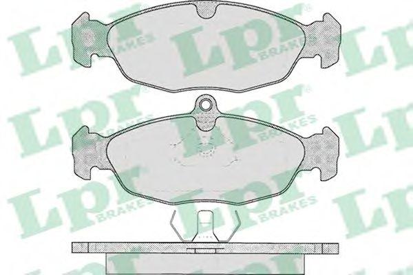 Колодка торм. DAEWOO LANOS 1.5/1.6 (KLAT), NEXIA передн. (пр-во LPR)                                  арт. 05P599