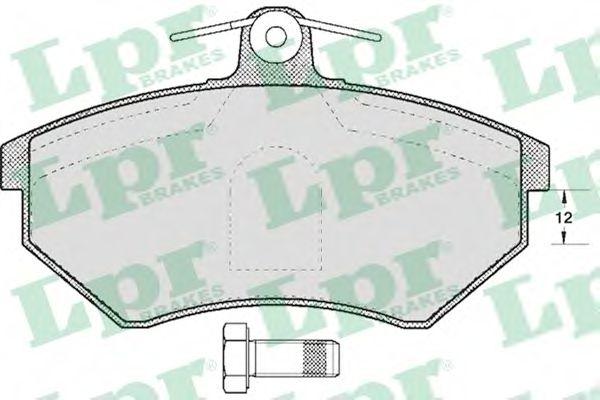 05P600  LPR - Гальмівні колодки до дисків (F, S)  арт. 05P600
