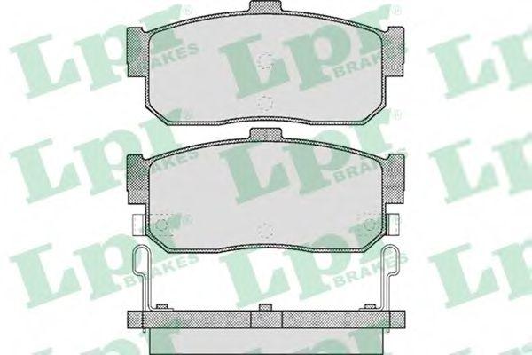 Комплект тормозных колодок, дисковый тормоз  арт. 05P602