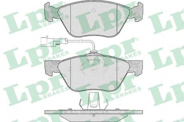 Brake pad set LPR 05P614