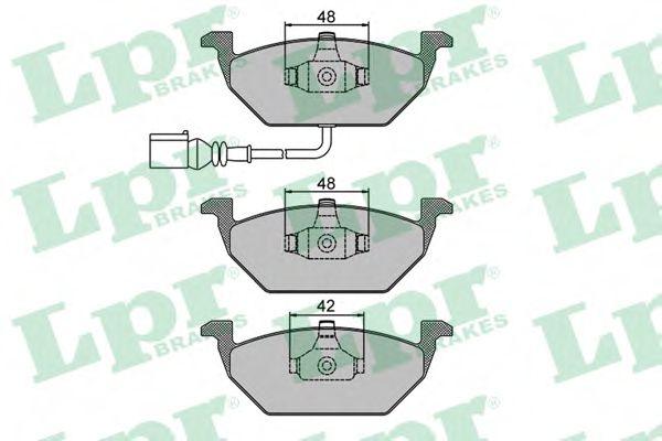 Колодка торм. AUDI A3, SEAT, SKODA,VW передн. (пр-во LPR)                                            REMSA арт. 05P692