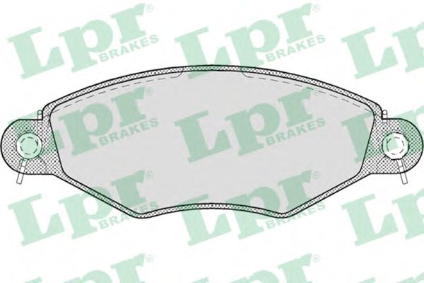 Brake pad set LPR 05P708