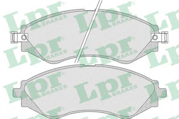 05P729  LPR - Гальмівні колодки до дисків (F, V)  арт. 05P729