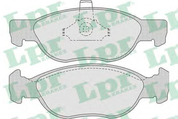 Тормозные колодки дисковые  арт. 05P740