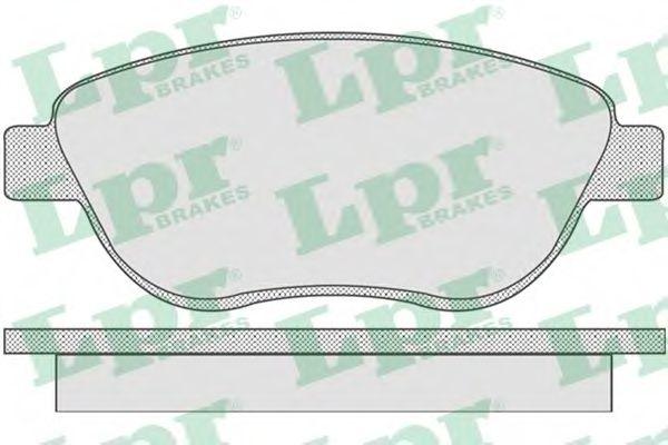 Колодка торм. CITROEN C3, C4, PEUGEOT 207, 307 передн. (пр-во LPR)                                    арт. 05P807
