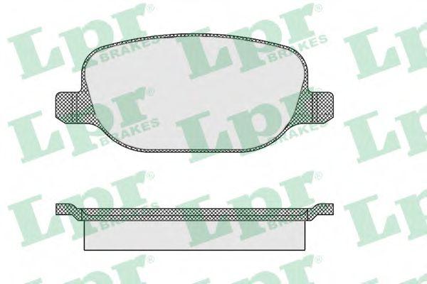 Тормозные колодки дисковые  арт. 05P855