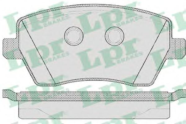 Колодка торм. NISSAN MICRA (K12), NOTE (E11) передн. (пр-во LPR)                                      арт. 05P867