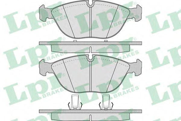 Комплект тормозных колодок, дисковый тормоз  арт. 05P881
