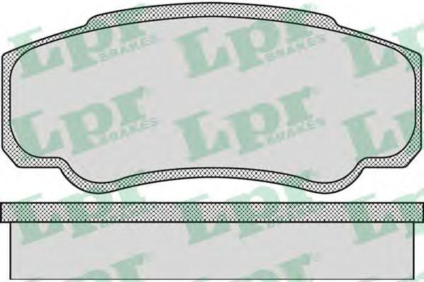 05P885  LPR - Гальмівні колодки до дисків (R, S)  арт. 05P885