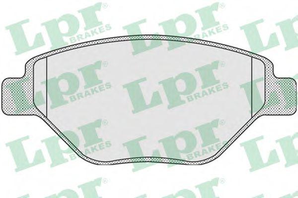 Колодка торм. RENAULT MEGANE II (BM0/1, CM0/1) передн. (пр-во LPR)                                   REMSA арт. 05P910