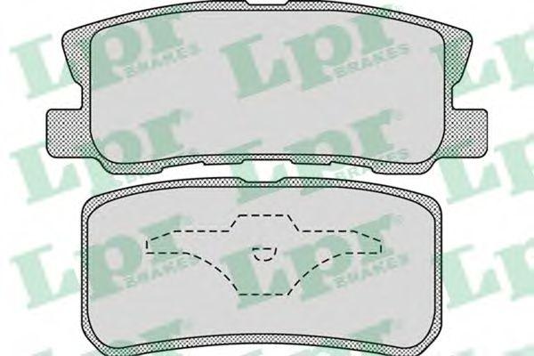 05P954  LPR - Гальмівні колодки до дисків (R) LPR 05P954