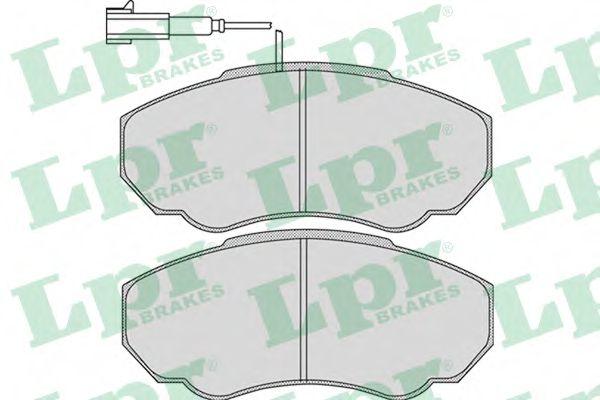 05P966  LPR - Гальмівні колодки до дисків (F, V, з датчиком)  арт. 05P966