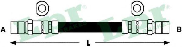 Шланг тормозной Daewoo Lanos задн. (пр-во LPR)                                                        арт. 6T46118