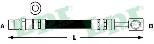 Шланг тормозной Daewoo Lanos передн. (пр-во LPR)                                                      арт. 6T46181
