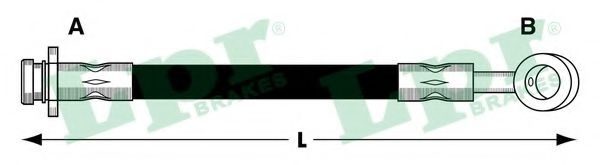 Тормозной шланг  арт. 6T48532
