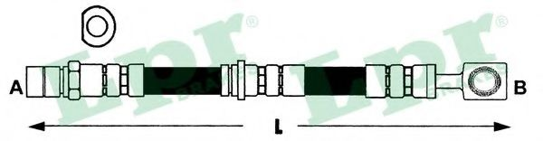 Тормозной шланг  арт. 6T47396