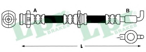 Тормозной шланг  арт. 6T47392