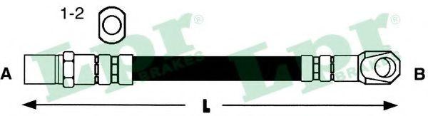Шланг тормозной VAZ 2101-07, Niva передн. (пр-во LPR)                                                 арт. 6T46312