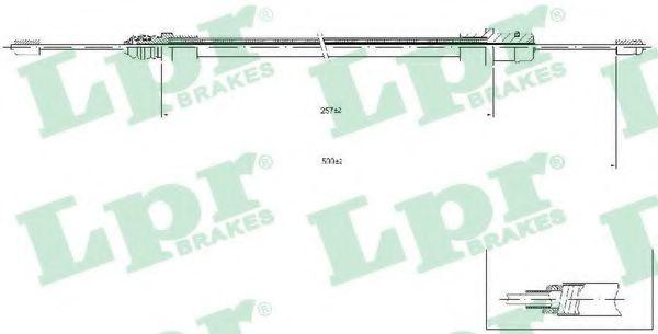 Тросик стояночного тормоза  арт. C0212B