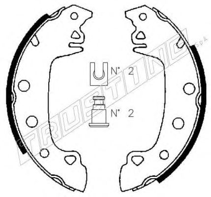 Комплект тормозных колодок LPR арт. 088204