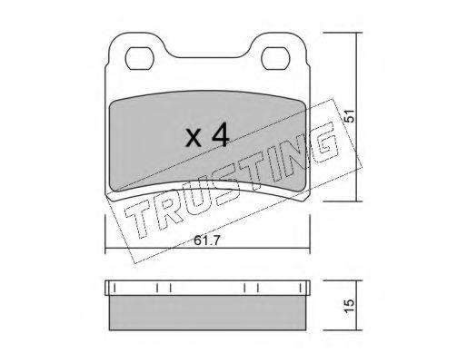 Гальмівні колодки зад. Kia Sephia 1.5i 16V, 1.8 16V 95-  TRUSTING 5510