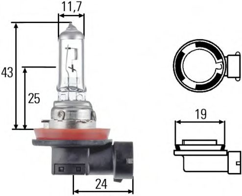 Лампа накаливания, основная фара, Лампа накаливания, противотуманная фара, Лампа накаливания, Лампа накаливания, основная фара  арт. 8GH008358121