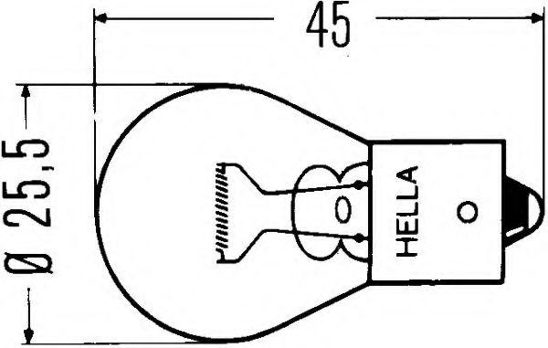 Лампа накаливания, фонарь указателя поворота, Лампа накаливания, фонарь сигнала торможения, Лампа накаливания, фонарь освещения номерного знака, Лампа накаливания, задняя противотуманная фара, Лампа накаливания, фара заднего хода, Лампа накаливания, стоян  арт. 8GA002073121