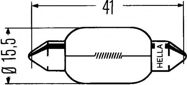HELLA C15W SV 8.5 12V 15W Автолампа в интернет магазине www.partlider.com