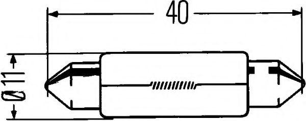 HELLA C10W 12V Автолампа пальчиковая (41мм) в интернет магазине www.partlider.com