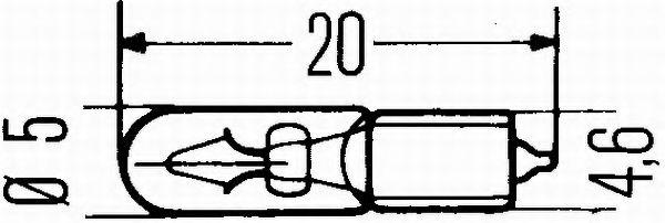 HELLA W2,3W 12V2,3W Автолампа(безцокольная) в интернет магазине www.partlider.com