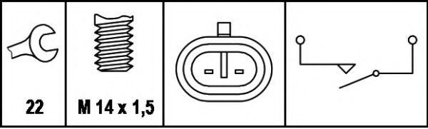 Выключатель заднего хода  арт. 6ZF008621011