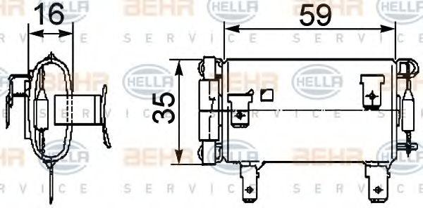 Резистор вентилятора HELLA 9ML351029381