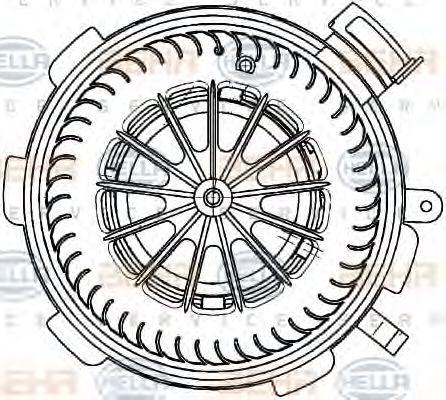 Вентилятор кондиционера HELLA 8EW351034071
