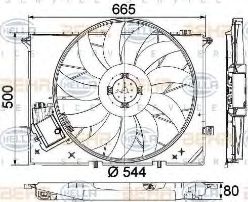 Вентилятор HELLA 8EW351040091