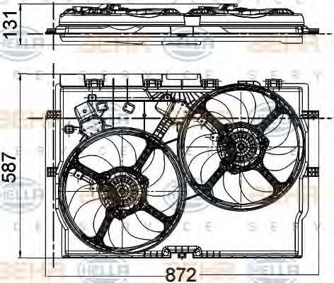 Вентилятор радіатора HELLA 8EW351041431