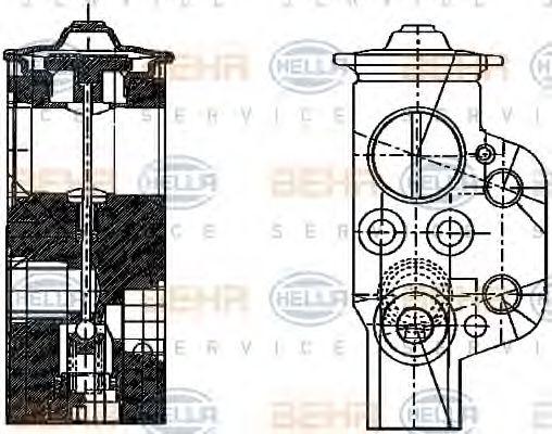 Расширительный клапан, кондиционер HELLA 8UW351234161