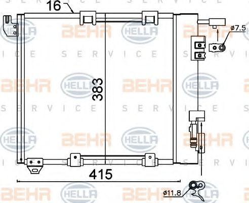 OL-AST G Радиатор кондиционера HELLA 8FC351301374