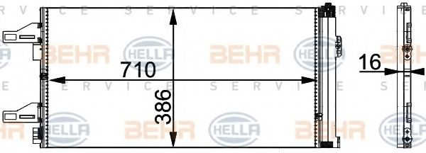 FT-DUC 06- Радиатор кондиционера HELLA 8FC351301601