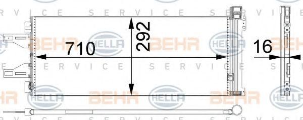 Радиатор кондиционера HELLA 8FC351301661
