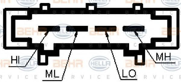 Резистор вентилятора отопителя HELLA 9ML351332371