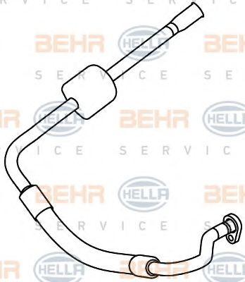 Трубопроводы кондиционера Трубопровод высокого / низкого давления, кондиционер HELLA арт. 9GS351337701