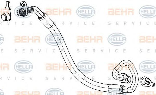 Трубопроводы кондиционера Трубопровод высокого / низкого давления, кондиционер HELLA арт. 9GS351337771