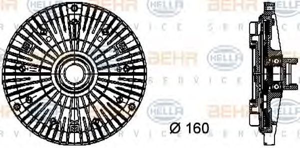 Сцепление, вентилятор радиатора HELLA 8MV376732101